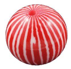 Топче 20 мм дупка 3 мм резин червено -5 броя
