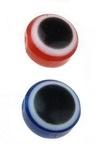 Ball eye 8x5 mm hole 1 mm MIX -10 pieces