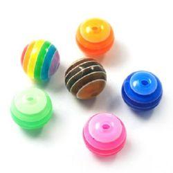Топче резин райе 12 мм дупка 2 мм цветно -20 броя