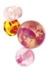 Мънисто резин микс форми 11~24x8~22 мм дупка 2~3 мм прозрачно с нишка -20 грама