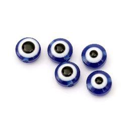 Μπλε μάτι 8x5 mm -50 τεμάχια