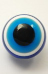 Acrylic Evil Eye Beads, Round Ball 18x17 mm hole 3 mm -10 pieces