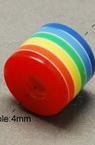 Цилиндър 9x10 мм дупка 2 мм цветен -50 броя
