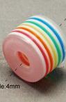 Цилиндър 8x11x11 мм дупка 3 мм цветен -50 броя
