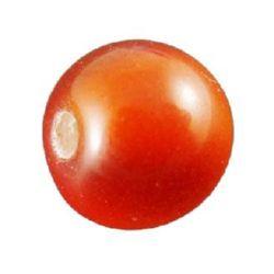 Топче 17 мм дупка 3.5 мм котешко око оранжево -5 броя