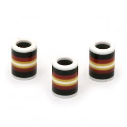 Цилиндър резин 14x10 мм дупка 6 мм цветен -10 броя