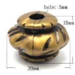 Мънисто Антик фигурка 20x15 дупка 5 мм цвят антик бронз -51 грама ~19 броя