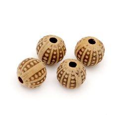 Margele Minge antic 8x8 mm gaură 1,5 mm maron -50 grame ~ 145 bucăți