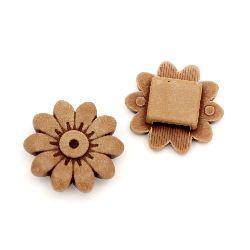 Мънисто Антик цвете 21x21x7 мм дупка 3 мм кафяво -50 грама ~45 броя