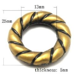 Margele Antic inel 48x8 mm culoare bronz antic -50 grame ~ 39 buc