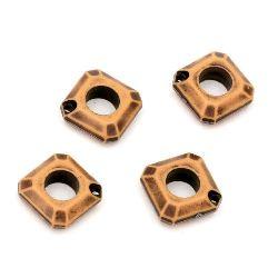 Висулка Антик 16x5 мм дупка 1.5 мм кафява -50 грама ~90 броя