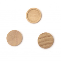 Unfinished Wooden base 15x3 mm tile 12 mm color wood - 10 pieces