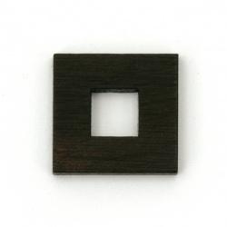 Основа за медальон рамка от масивно абаносово дърво 16x16x2.5 мм квадрат