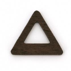 Baza pentru cadru de medalion din triunghi de abanos solid de 24x21x3 mm