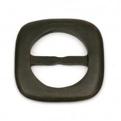 Ξύλινη τόκα 93x9 mm τρύπα 59x27 mm χρώμα καφέ σκούρο