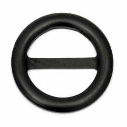 Wooden Belt buckle  75x7 mm hole 49x22 mm color black