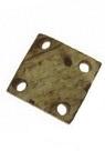 Копче кокос 20~21x20x4~6 мм дупка 2 мм -5 броя