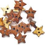 Копче дърво звезда 15 мм-5 броя