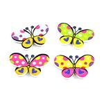 Копче дърво пеперуда 20x30x3 мм дупка 1.5 мм МИКС -10 броя