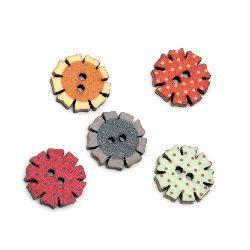 Копче дърво 20x2.8 мм дупка 2 мм МИКС -10 броя