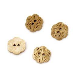 Λουλούδι κουμπί καρύδας 11x2 mm τρύπα 1,5 mm -10 τεμάχια