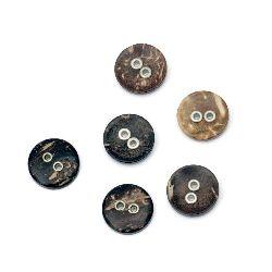 Копче кокос 13x3 мм дупка 2 мм -10 броя