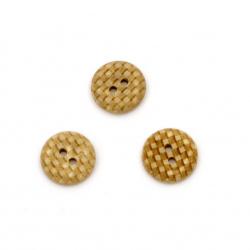 Копче кокос 13x3.5 мм дупка 2 мм -10 броя