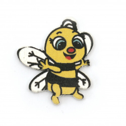 Фигурка дърво пчела 30x25x3 мм тип кабошон -10 броя