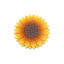 Sunflower Wooden figurine for DIY Jewelry and Crafts 39x2 mm cabochon type - 10 pieces