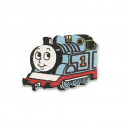 Wooden Ornament locomotive 25x33x2 mm cabochon type - 10 pieces