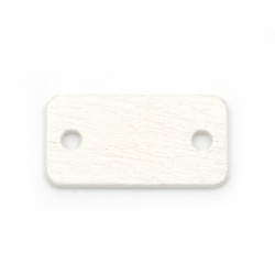 Свързващ елемент дърво плочка 23x12x2 мм дупка 2.5 мм бяла за декорация -10 броя