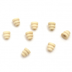 Natural Unfinished Wooden Bead for DIY Jewelry and Crafts 7x7 mm hole 2.5 mm color wood - 20 pieces