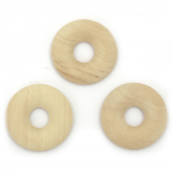 Ring wooden 30x5 mm color wood - 10 pieces