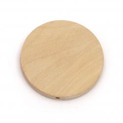 Мънисто дърво паричка 38x6 мм дупка 2.5 мм цвят дърво -5 броя