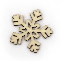 Figurine tree snowflake 27x27x2 mm color tree -10 pieces