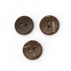 Копче кокос 13x2 мм дупка 2 мм -20 броя
