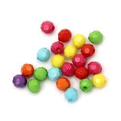 Margele solida bila 6 mm gaură 1,55 mm  multi-pereți mix-50 grame ~ 470 bucăți