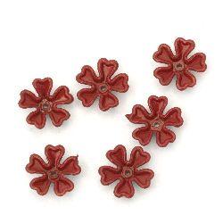 Margele solida floare  14x4 mm gaură 1 mm MIX - 50 grame ~ 110 bucăți