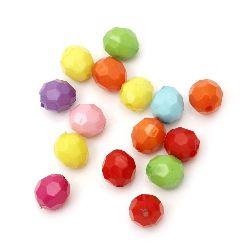 Margele solida bila 10 mm gaură 2 mm multi preti mix  - 50 grame ~ 100 bucăți