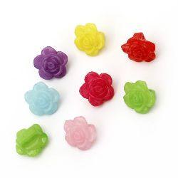 Κουμπί τριαντάφυλλο πλακέ 14x9 mm δύο τρύπες x 1,5 mm ΜΙΧ -50 γραμμάρια ~ 85 τεμάχια