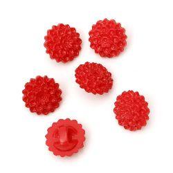 Κουμπί λουλούδι πλακέ 16x9 mm τρύπα 2,5 mm κόκκινο -50 γραμμάρια ~ 55 τεμάχια