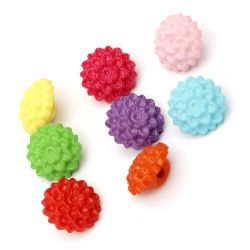 Κουμπί λουλούδι πλακέ 16x9 mm τρύπα 2,5 mm ΜΙΧ -50 γραμμάρια ~ 55 τεμάχια