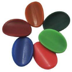 Oval 21x30x6,5 mm gaură 2 mm solidă culoare  -50 g -25 buc