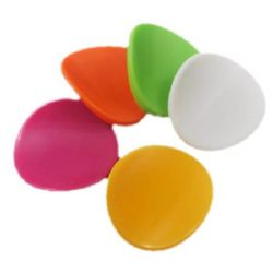 Oval 35x38x11 mm gaura 2 mm solidă culoare  -50 g -9 buc