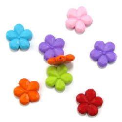 Margele solidă  floare 20x4 mm gaură 1 mm mix-50 grame ~ 38 bucăți
