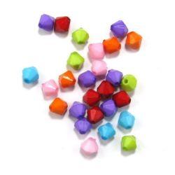 Margele solidă zâmbet 8 mm gaură 1,5 mm mix -50 grame ~ 170 bucăți