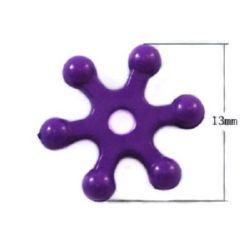 Fin 13x3 mm gaură 2 mm solida violet -50 grame