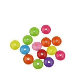 Margele solida saiba  8x3,5 mm gaură 1 mm culoare -50 grame ~ 390 bucăți