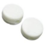 Мънисто плътно шайба 8x4 мм дупка 2 мм бяла -50 грама ~220 броя