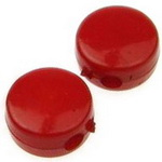 Мънисто плътно шайба 8x4 мм дупка 2 мм бяла червена -50 грама ~220 броя